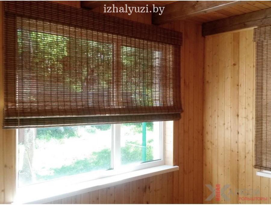 Бамбуковые римские шторы на дачу