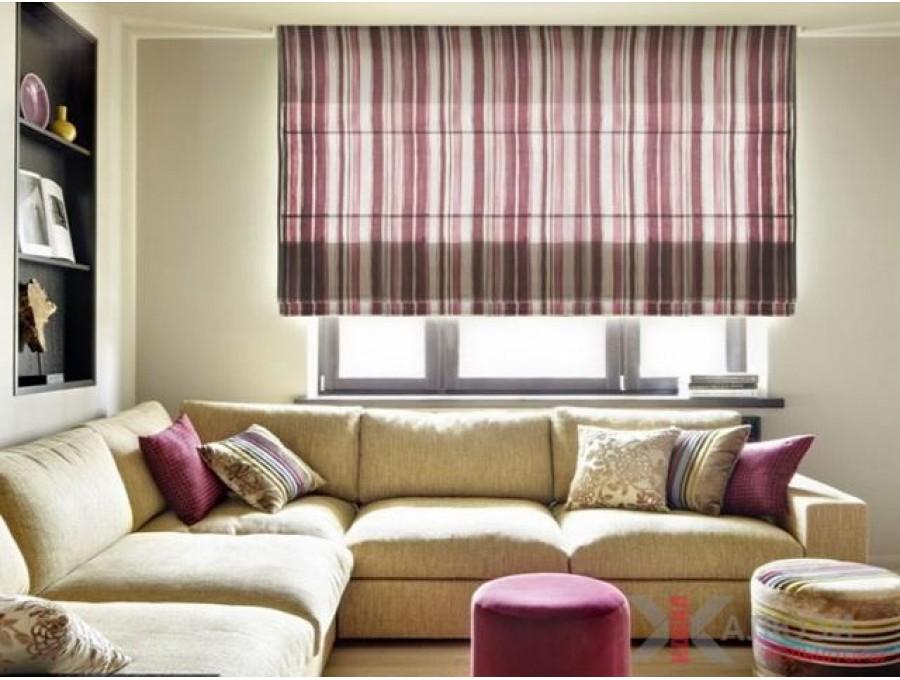 Римские шторы в гостиную №04