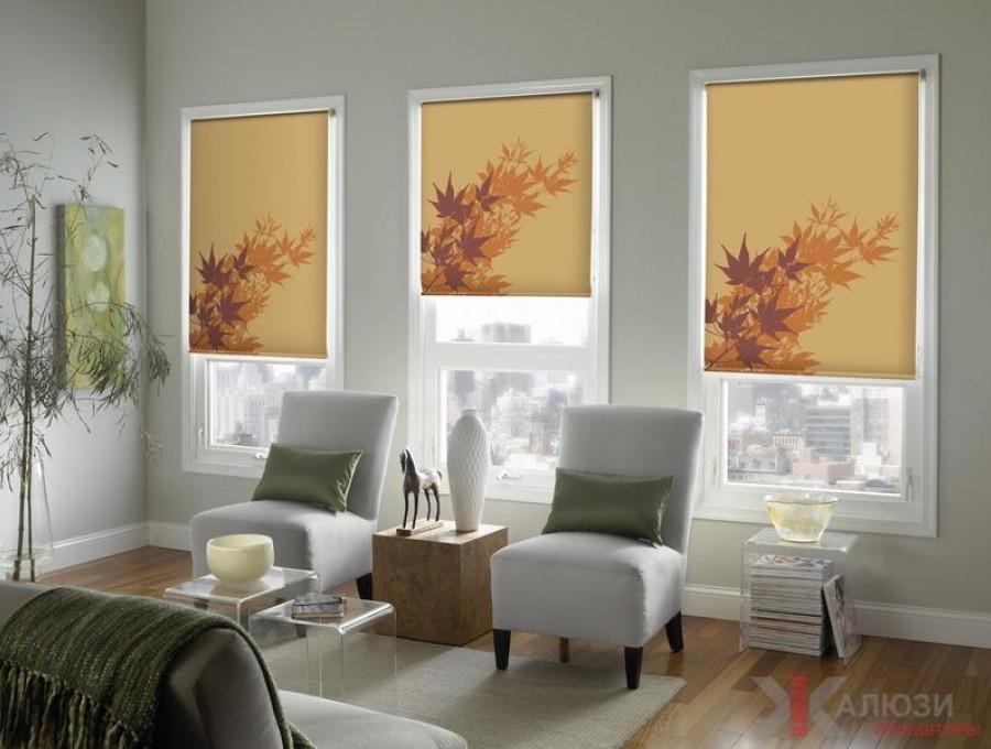 Рольшторы с фотопечатью на деревянные окна