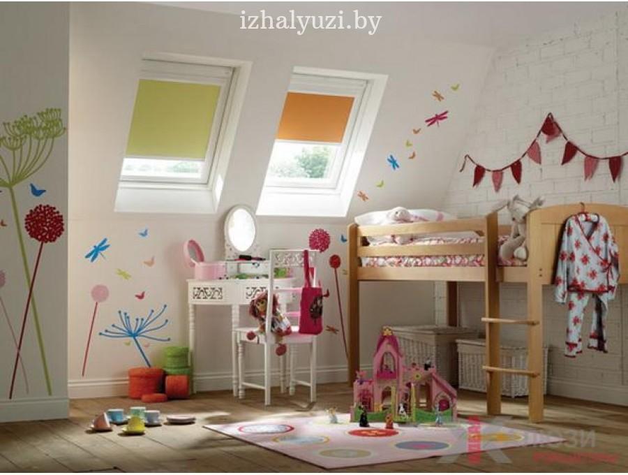 Рольшторы для мансардных окон в детскую комнату №06