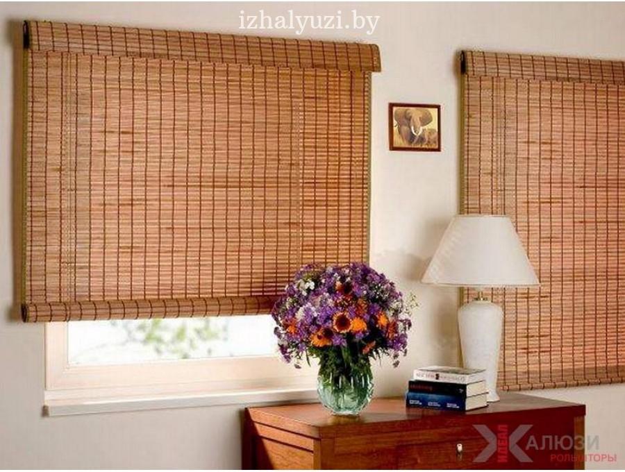 Бамбуковые римские шторы в гостинную