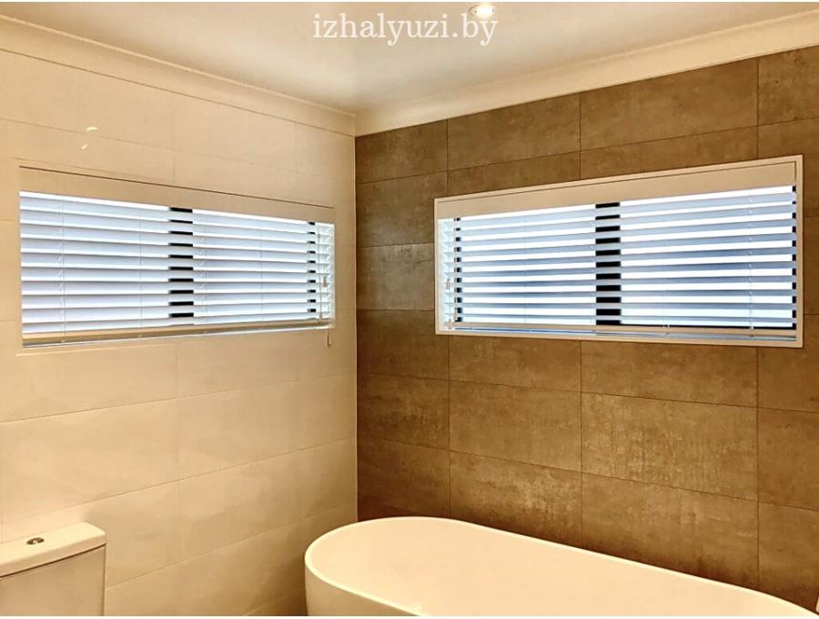Деревянные жалюзи для ванной