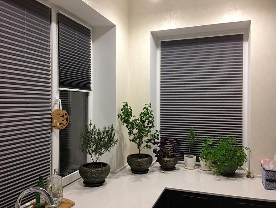 Шторы плиссе на кухню