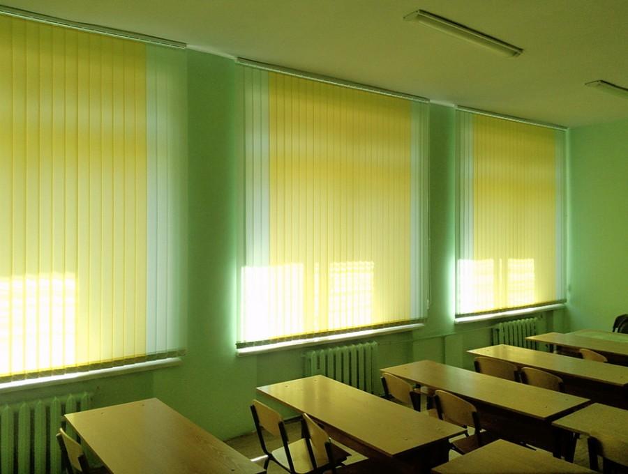 Вертикальные жалюзи в школу