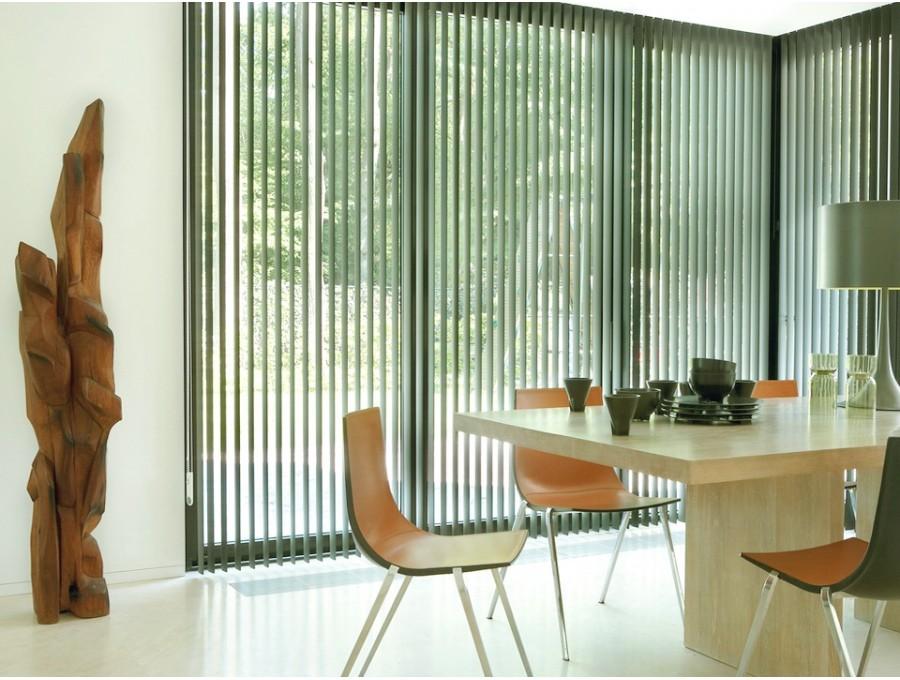 Вертикальные жалюзи на французские окна №01