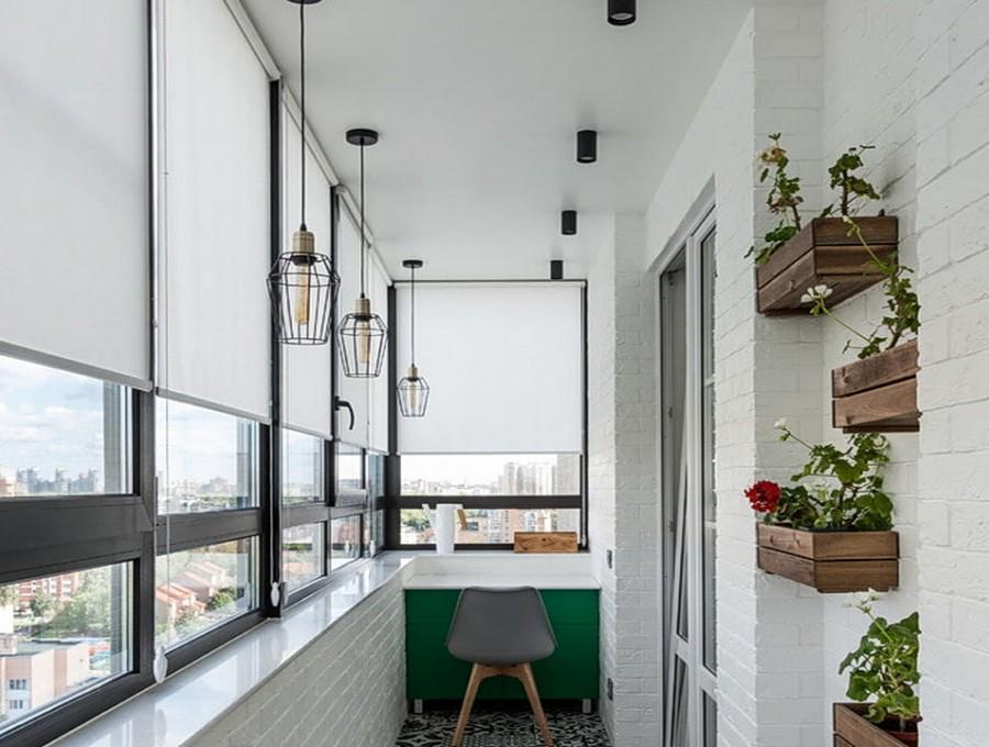 Свободновисящие рольшторы на балкон