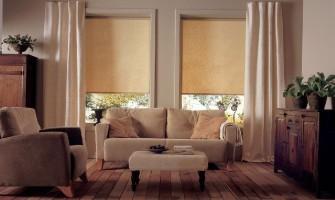 Сочетание жалюзи и рольштор с другими декорами окна