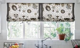 Выбираем римские шторы на кухню
